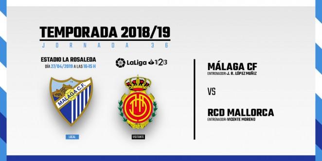 LaLiga oficializó este martes los horarios de la 36ª jornada de Segunda División, fecha en la que el Málaga CF jugará en su feudo frente al RCD Mallorca.