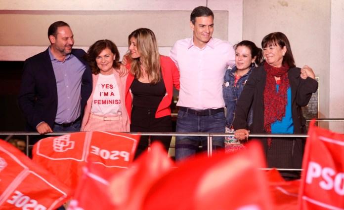 Pedro Sánchez: «Hemos ganado las elecciones y vamos a gobernar España»