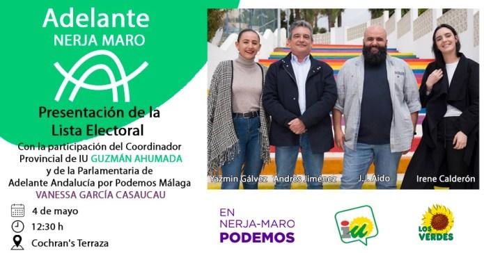 Adelante Nerja-Maro presentará su candidatura el sábado