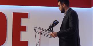 El secretario de organización y candidato número tres del PSOE, Víctor González.