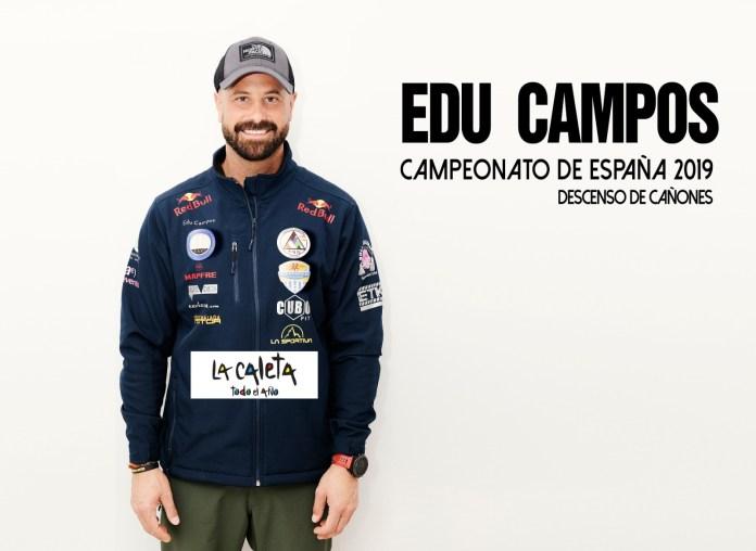 Eduardo Campos lleva el nombre de La Caleta al Campeonato Andaluz de Descenso de Barrancos en Tolox