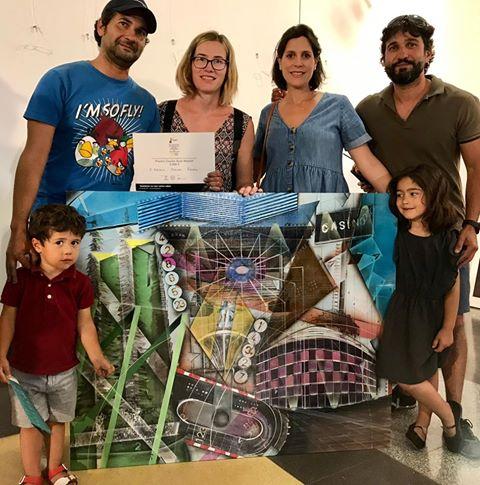 El veleño Álvaro Manén, segundo premio en el XX Certamen de Pintura en Directo Rafael Botí Torrelodones 2019