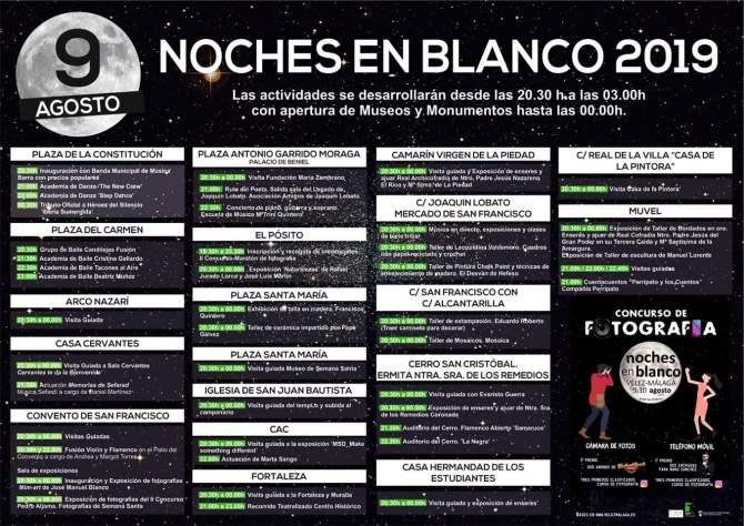 Programación completa de las 'Noches en Blanco' de Vélez-Málaga 2019