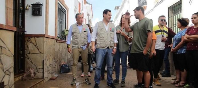 Andalucía aprueba 75 millones en ayudas de emergencia por la gota fría