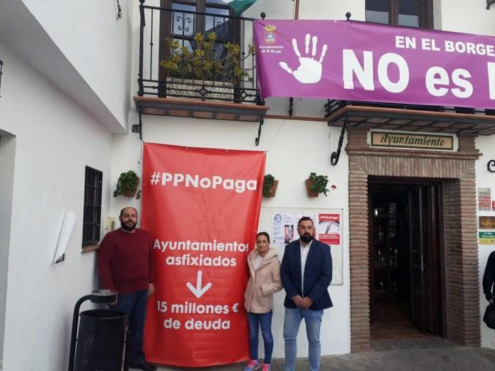El PSOE hará parones testimoniales mañana en los ayuntamientos de la provincia para reclamar a la Diputación la deuda