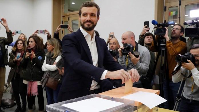Pablo Casado pide a los ciudadanos acudir «masivamente» a las urnas