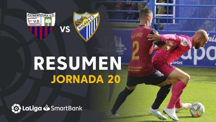 Segundo empate seguido a domicilio y cuarta jornada sin perder para el Málaga CF