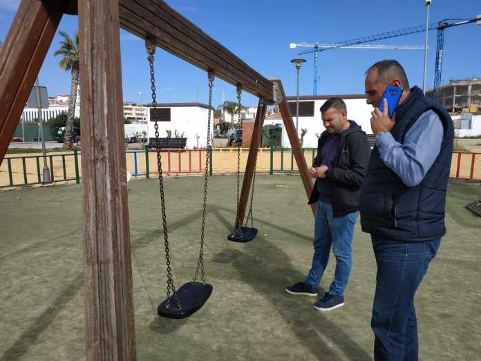 Medio Ambiente planifica los trabajos de mejora y puesta en valor del parque del camino de la Iglesia de Benajarafe