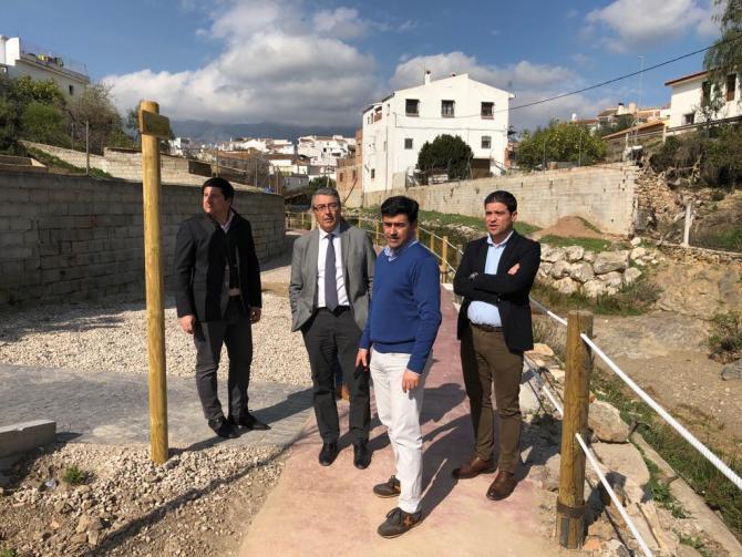 Finalizan las obras de mejora del recinto de El Paso de Riogordo con una inversión de la Diputación de 234.367 euros