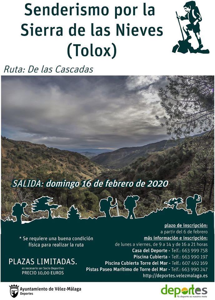 Deportes Vélez-Málaga organiza una ruta de senderismo por la Sierra de la Nieves (Tolox)