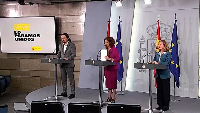 Moratoria para autónomos y empresas y 440 euros a los trabajadores sin paro