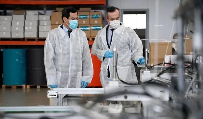 Moreno apuesta por el autoabastecimiento ante el coronavirus a través de empresas con producción en Andalucía