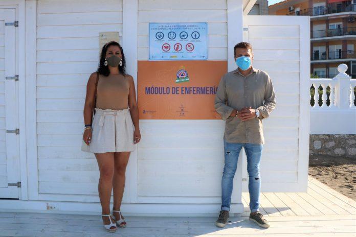 Ya está operativo el puesto de enfermería en el nuevo módulo de playa en El Morche