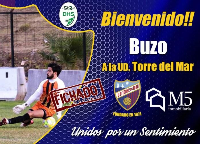 José Manuel Pérez «Buzo», portero antequerano de de 24 años, llega a la Unión Deportiva Torre del Mar