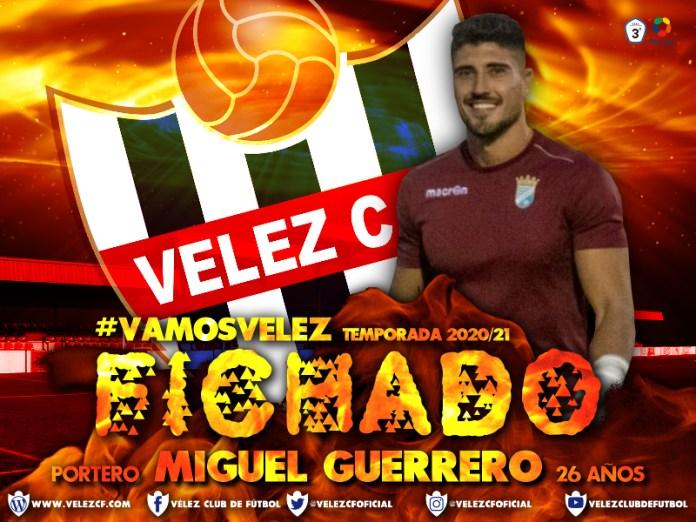 El guardameta Miguel Guerrero, fichado por el Vélez C.F.
