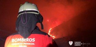incendio forestal declarado en Colmenar Axarquía Costa del Sol