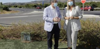 visita de la consejera de Fomento, Infraestructuras y Ordenación del Territorio, Marifrán Carazo, a Vélez-Málaga, donde la Junta de Andalucía ha finalizado con un adelanto de cerca de un año las obras de mejora de seguridad en la carretera A-356.
