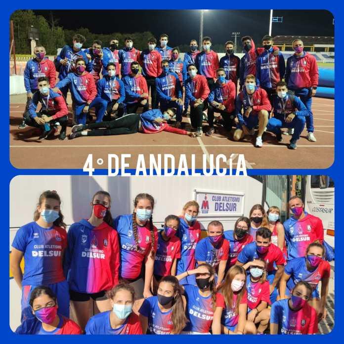 El Club Atletismo DELSUR participado con buenos resultados en el Campeonato de Andalucía de Clubes Absoluto al Aire Libre