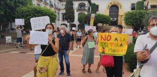 protesta del colectivo vecinal 'La Cala no se Tala'.