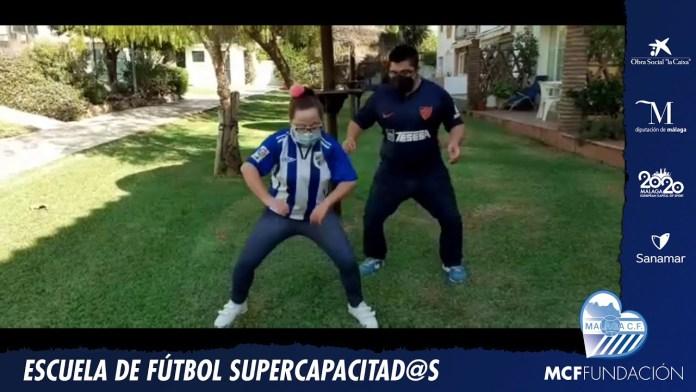 La Escuela de Fútbol Supercapacitad@s del Málaga  planta cara al Covid19 al son de 'Jerusalema'