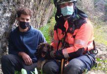 El CPB rescata a un perro en el Tajo de Ronda