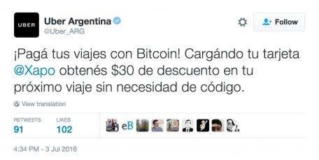 Tweet Uber Argentina (Borrado)
