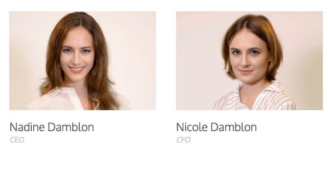 Nadine y Nicole Damblon, dos hermanas exitosas en el mundo de las criptomonedas