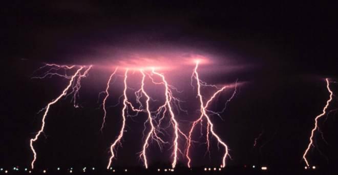 lightning red bitcoin pexels