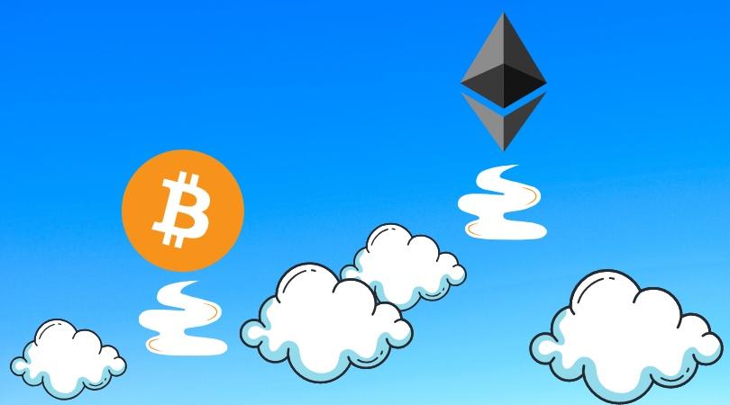 precio de bitcoin y ethereum crece