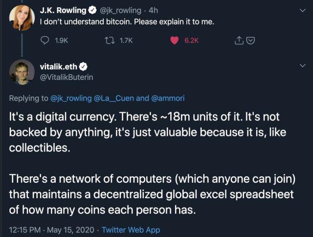Tweet de J.K Rowling publicado por Michael Arrington