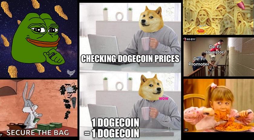 Memes y las criptomonedas