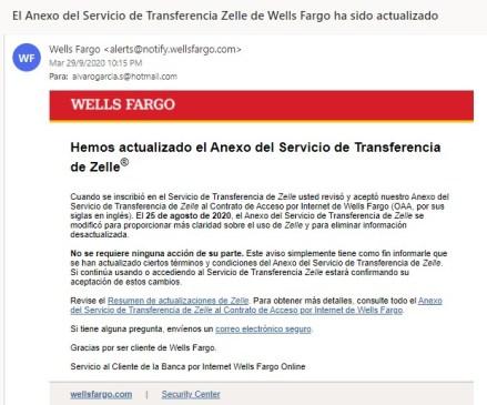 Wells Fargo Zelle Venezuela
