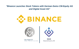 Binance lanza tokens de acciones con la suizo-germana CM-Equity AG y Digital Asset AG