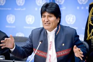 """Presidente de Bolivia Evo Morales asume presidencia de G-77 y pide """"descolonizar economía"""""""