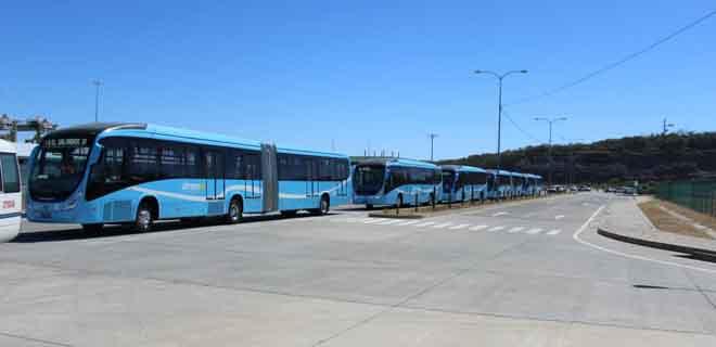 Segunda flota de autobuses del SITRAMSS llegan al país