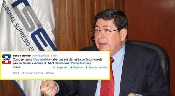 Magistrado Walter Araujo es amenazado en las redes sociales