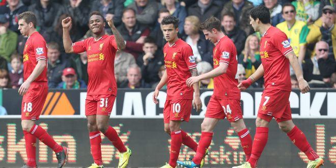 Liverpool gana al Norwich y acaricia  su primera Premier en 24 años