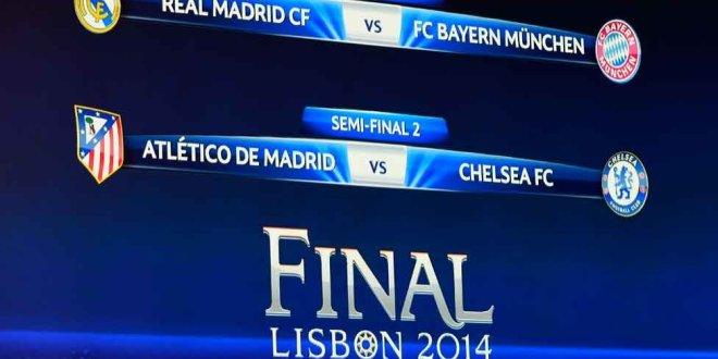 Real Madrid-Bayern Múnich y Atlético Madrid Chelsea, semifinales de Champions