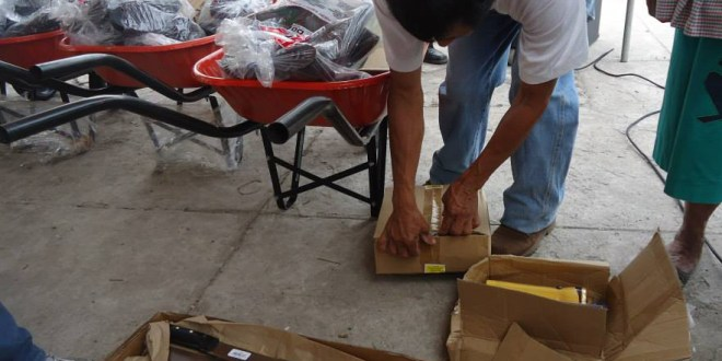 Entregan herramientas a Comisiones Comunales de Protección Civil