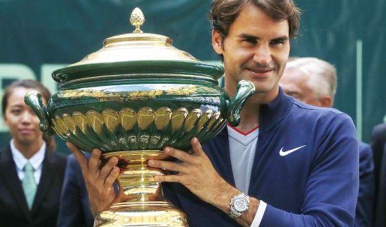 Federer vence al colombiano Falla y gana su séptimo  título en Halle