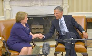 Obama recibe a Bachelet con agenda centrada en comercio y energía