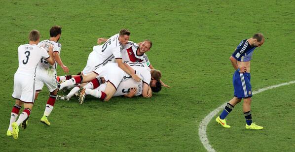 Alemania derrota a Argentina y ganó Mundial de fútbol