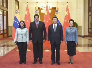 """Presidente chino promete a Venezuela una """"cooperación reforzada"""""""