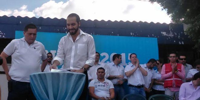 Vendedores de mercados respaldan candidatura de Nayib Bukele