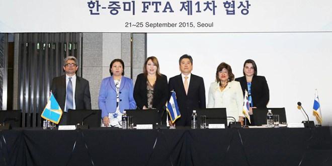 Inician negociaciones para TLC  entre Centroamérica y Corea del Sur