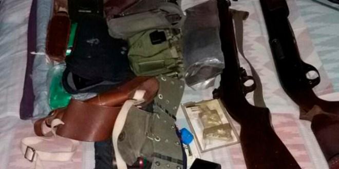 PNC allana viviendas de militar retirado por arsenal