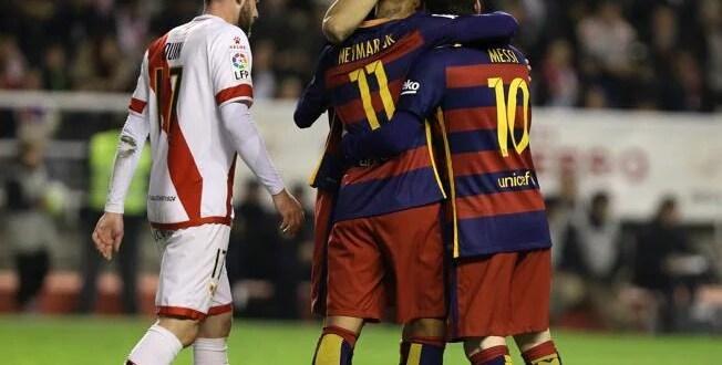 Barcelona golea al Rayo con un «hat-trick» de Messi