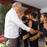 Presidente Sánchez Cerén y su esposa Margarita Villalta, reciben en Casa Abierta a representantes y beneficiarios de la red nacional de Casas de la Cultura y Convivencia. Foto Diario Co Latino.
