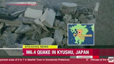 Serie de terremotos causa al menos 41 muertos y decenas de personas sepultadas en Japón