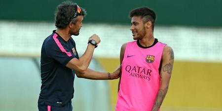 Luis Enrique celebra que Neymar dispute sólo los Juegos de Río